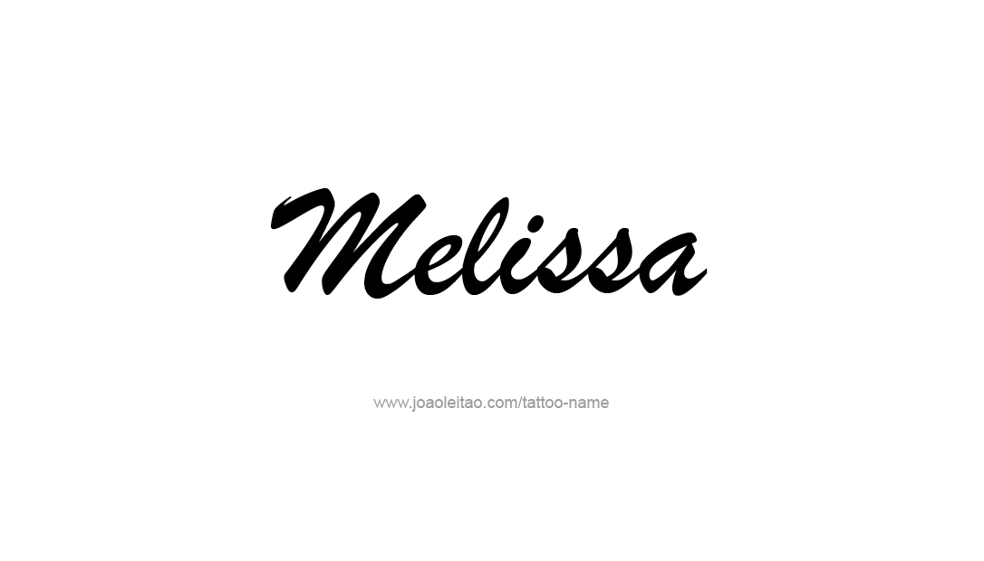 Elegant Name Tattoo Designs Melissa Free Graphic - Free ...