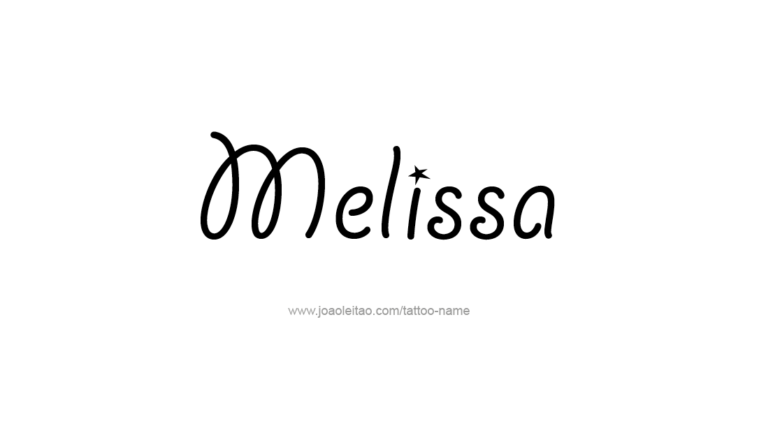 Flourishes Name Tattoo Designs Melissa Printable - Free ...