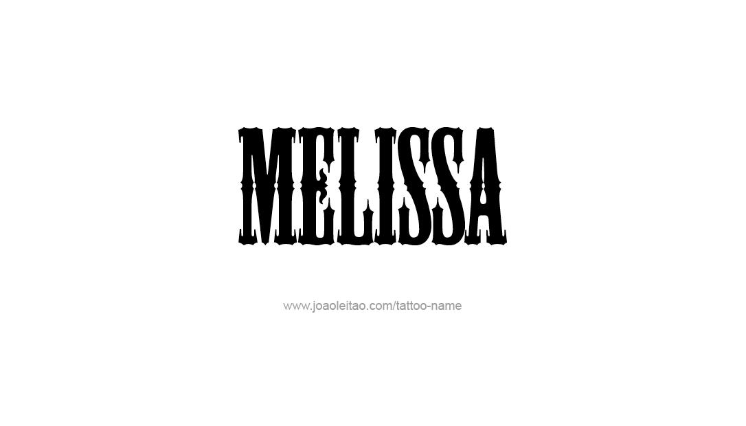 Graffiti Name Tattoo Designs Melissa Free Lettering - Free ...