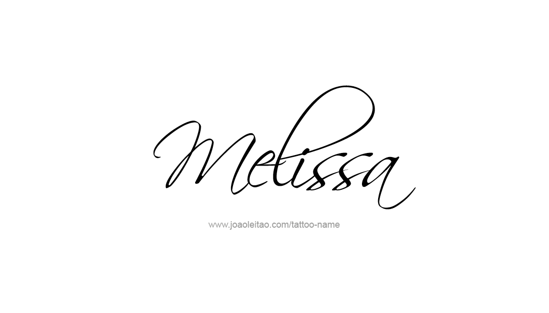 Decorated Name Tattoo Designs Melissa Free - Free Name Designs