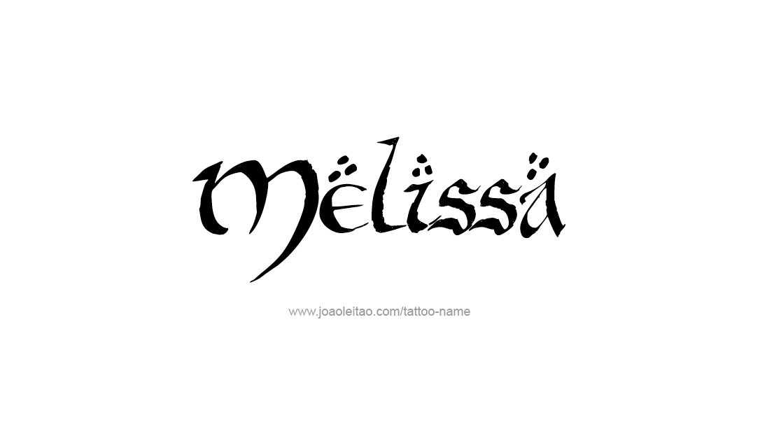 Calligraphic Name Tattoo Designs Melissa Download Free ...