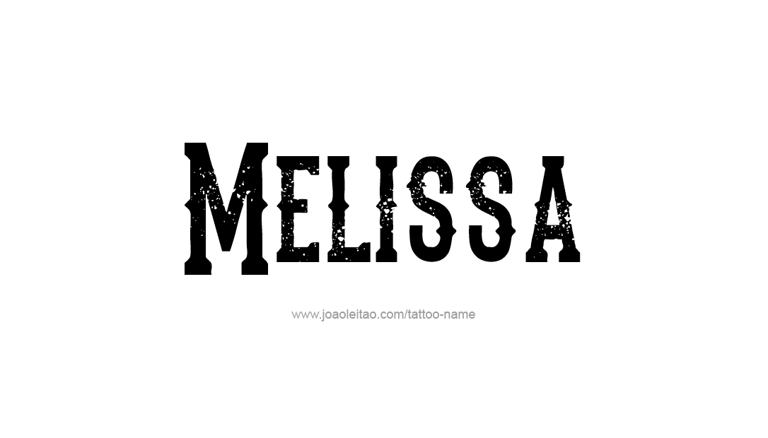 Typewriter Name Tattoo Designs Melissa Free Download ...