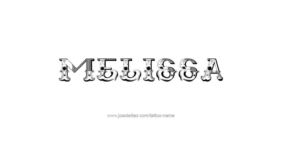 Tattoo Design Name Melissa