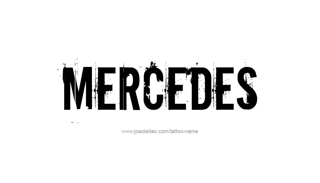 Tattoo Design Name Mercedes