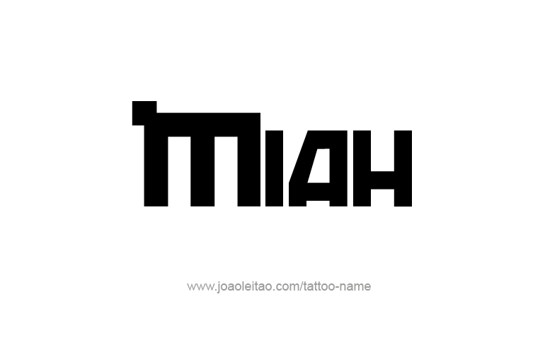 Tattoo Design Name Miah