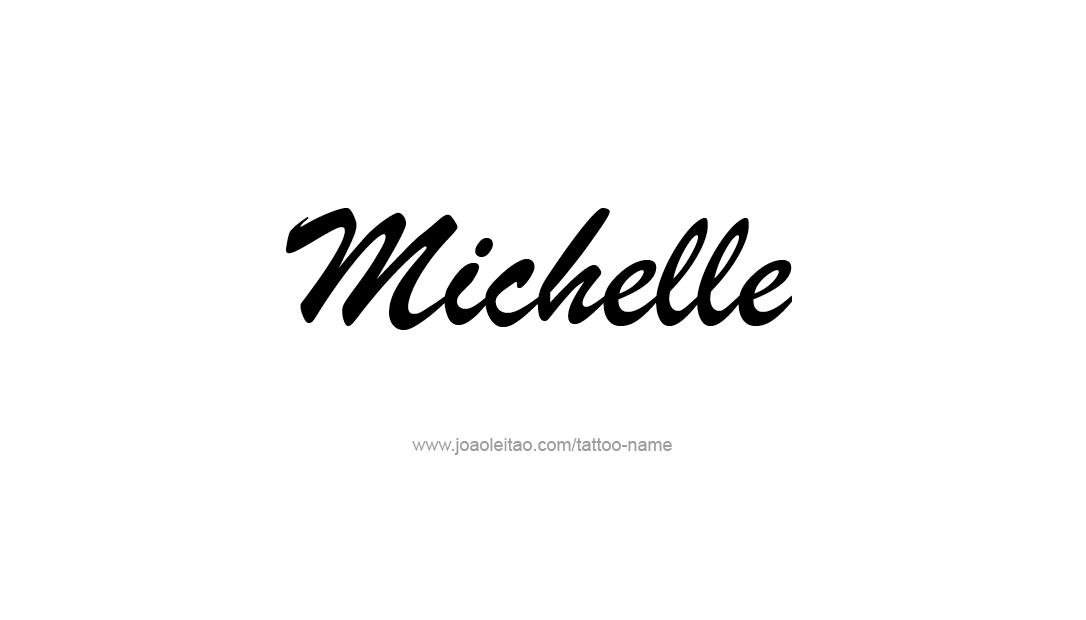 Tattoo Design Name Michelle