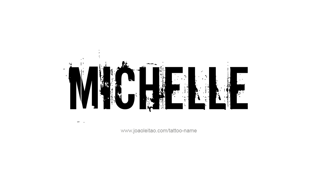 michelle name tattoo designs