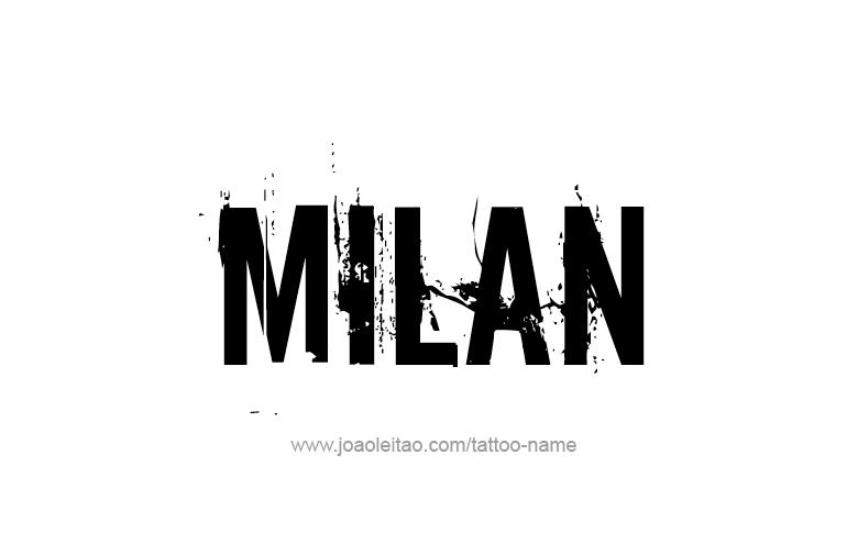 Tattoo Design Name Milan