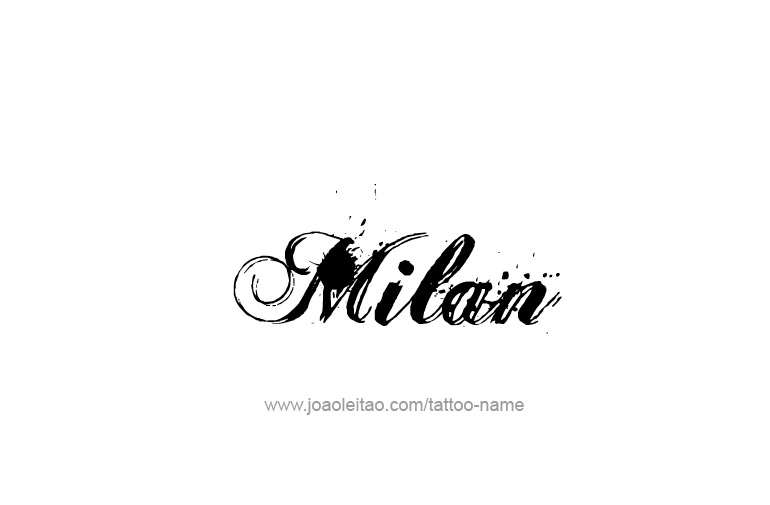 Milan Name Tattoo Designs