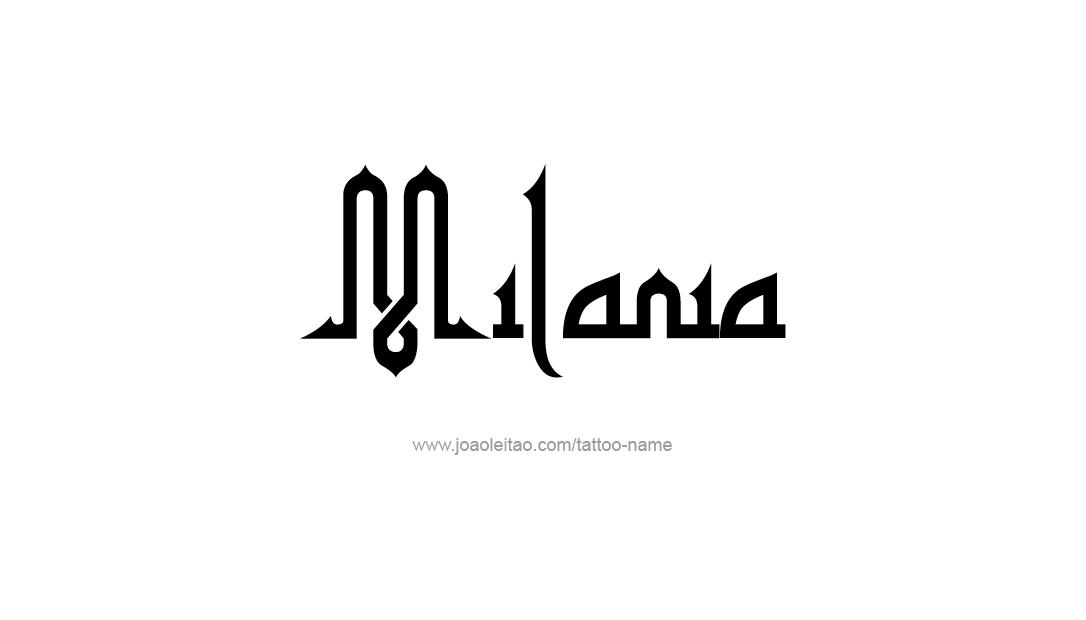 Tattoo Design Name Milania