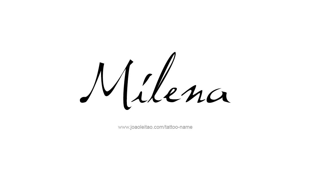 Tattoo Design Name Milena