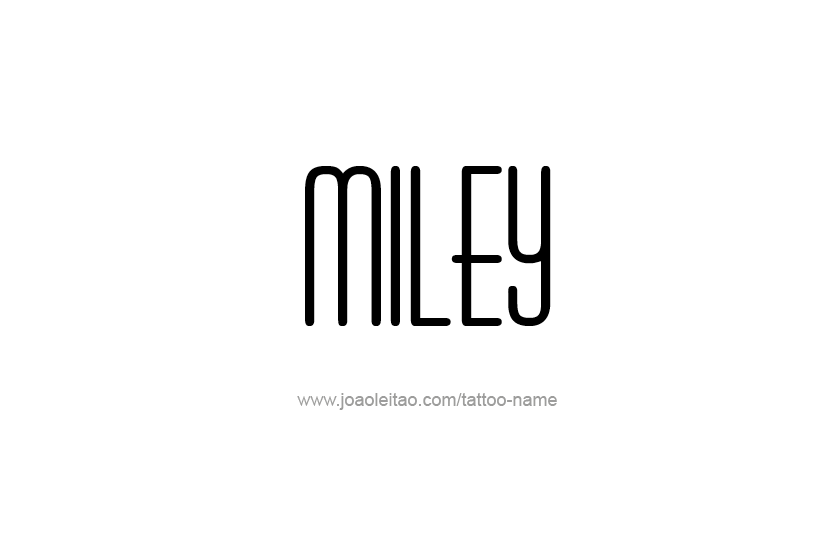 Tattoo Design Name Miley