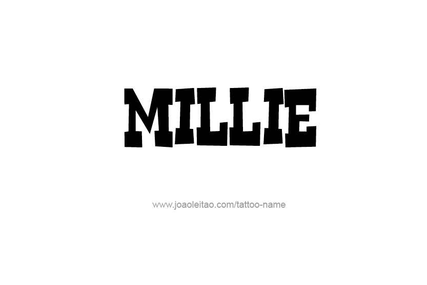 Tattoo Design Name Millie