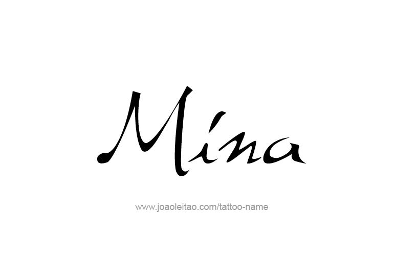 Tattoo Design Name Mina