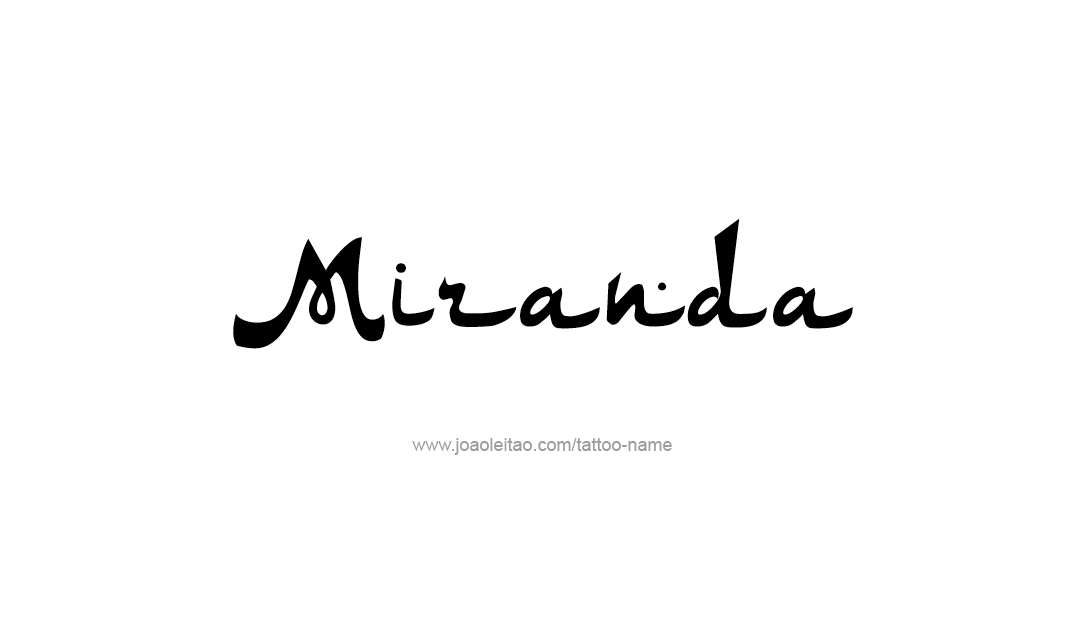 Tattoo Design Name Miranda