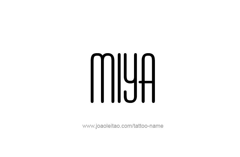Tattoo Design Name Miya