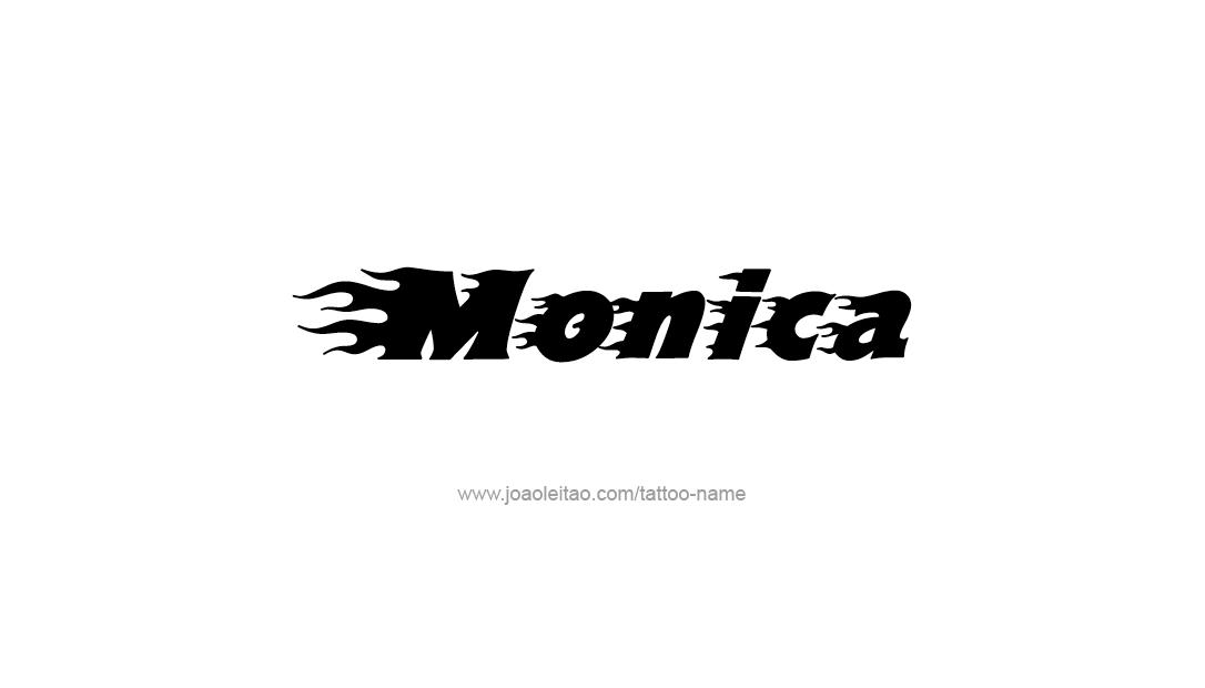 Tattoo Design Name Monica