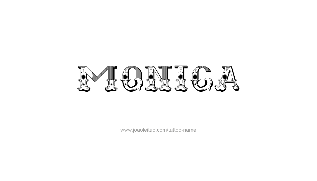 Tattoo Design Name Monica