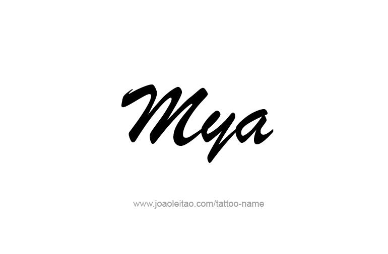 Tattoo Design Name Mya