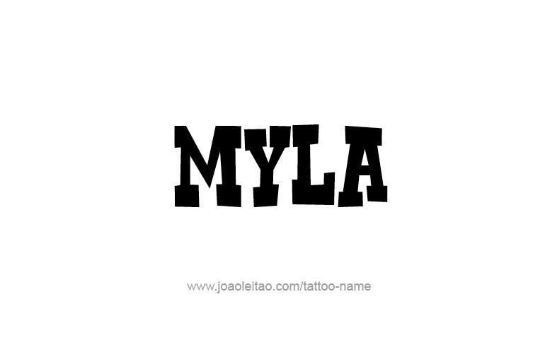 Tattoo Design Name Myla