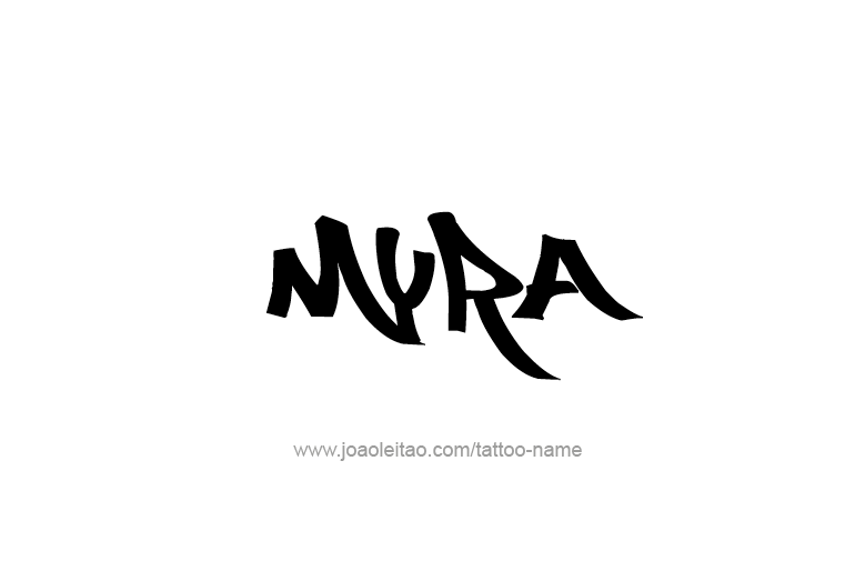 Tattoo Design Name Myra