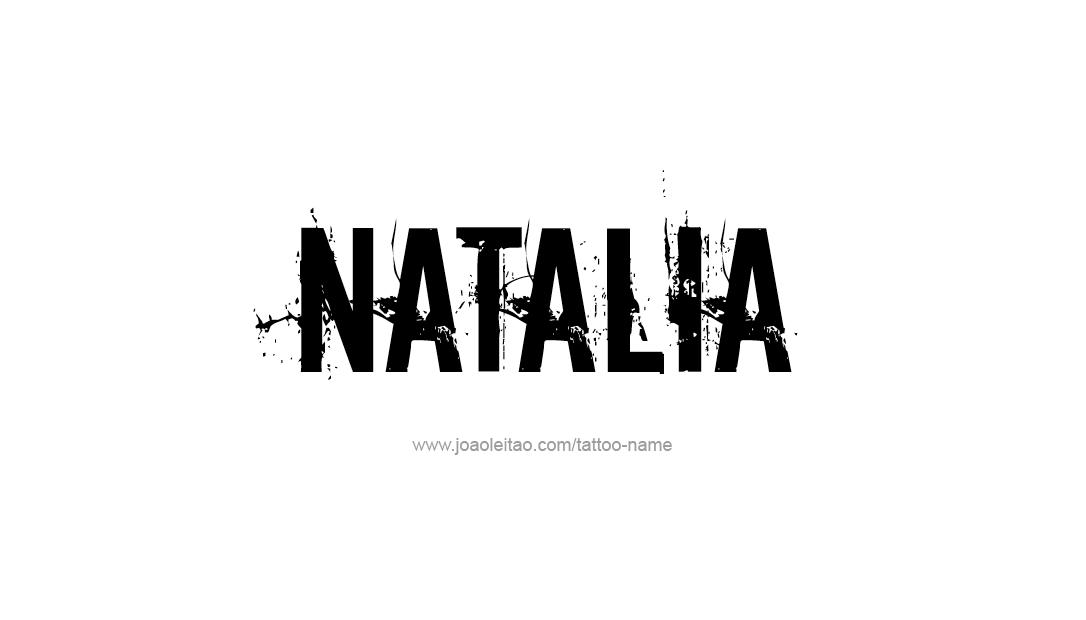 Tattoo Design Name Natalia