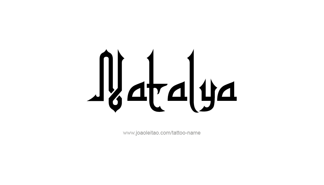 Tattoo Design Name Natalya