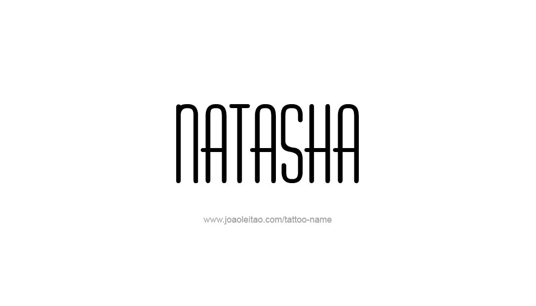 Tattoo Design Name Natasha