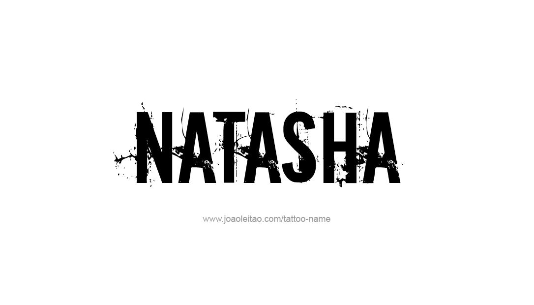 natasha name tattoo designs