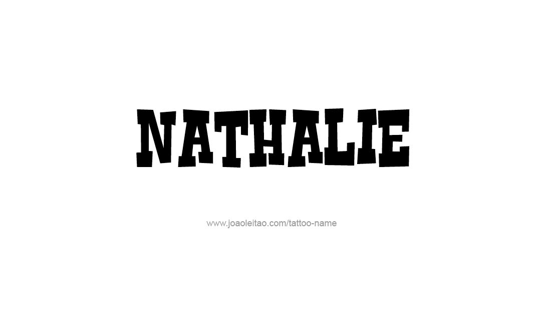 Tattoo Design Name Nathalie