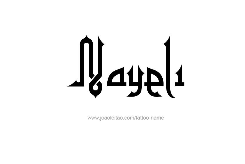 Tattoo Design Name Nayeli