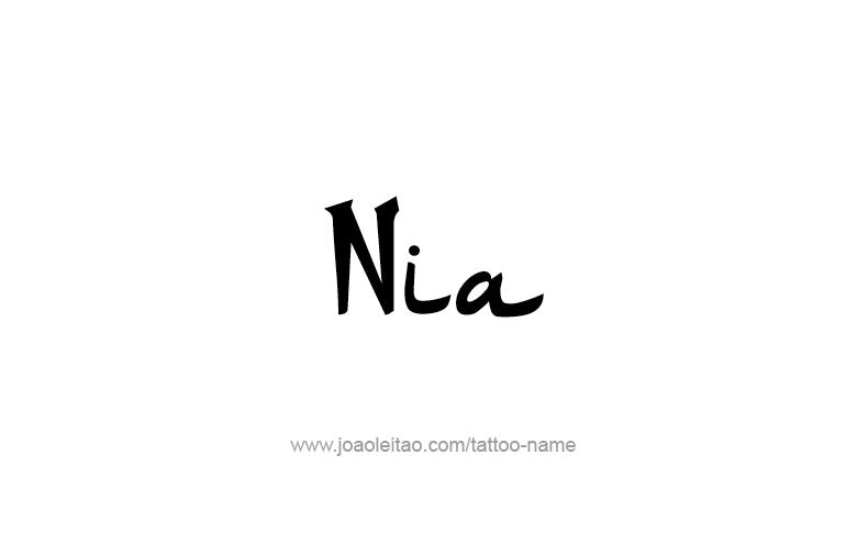 Tattoo Design Name Nia