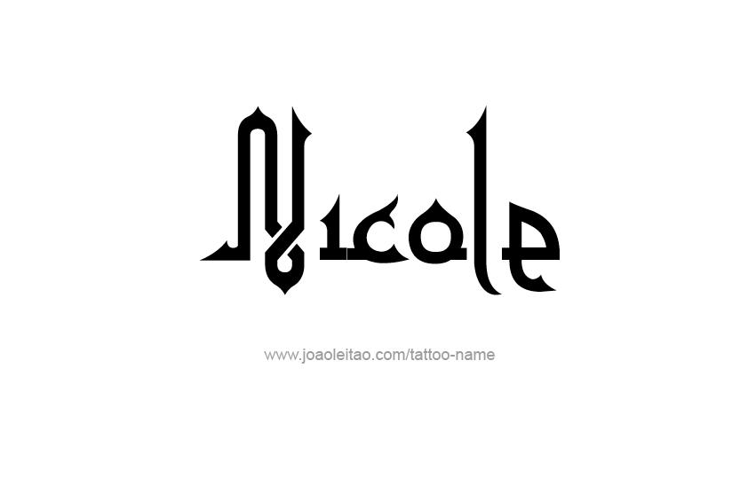 Tattoo Design Name Nicole
