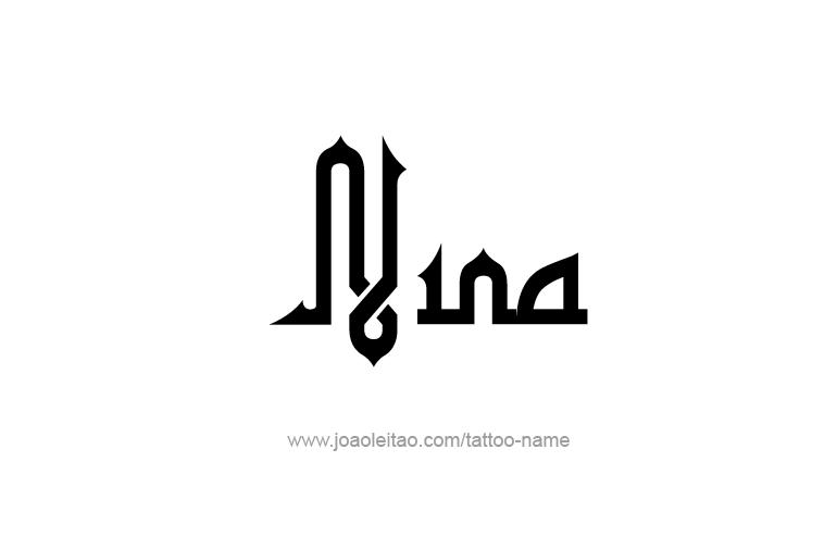 Tattoo Design Name Nina