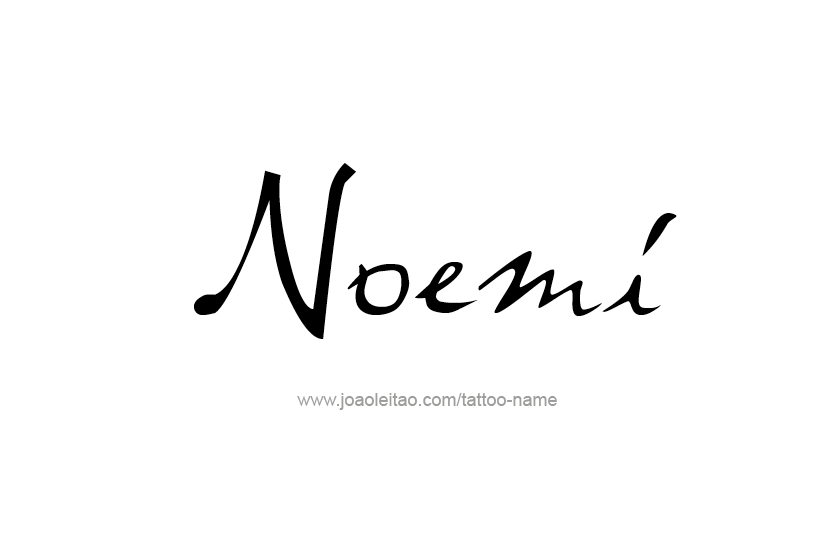 Tattoo Design Name Noemi