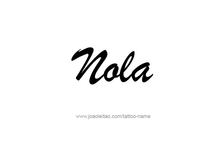 Tattoo Design Name Nola
