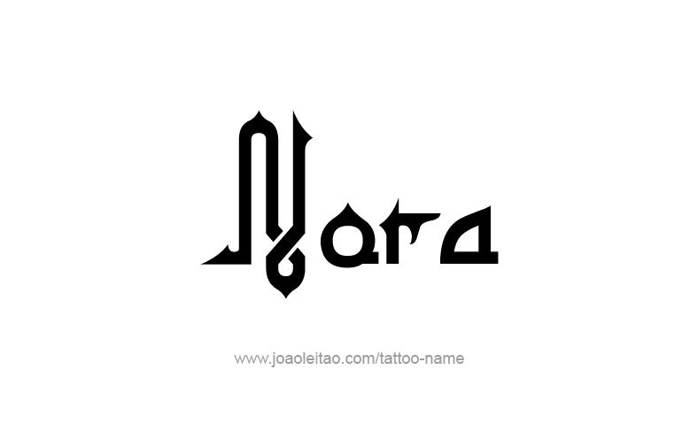 Tattoo Design Name Nora