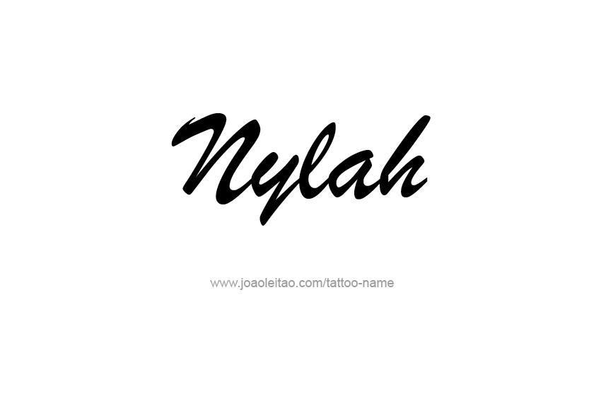 Tattoo Design Name Nylah