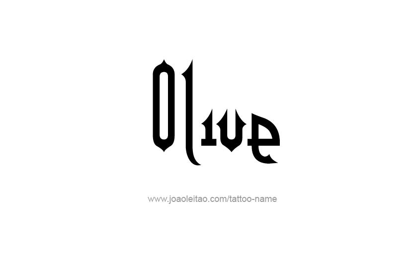 Tattoo Design Name Olive