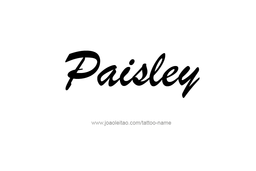 paisley name tattoo designs