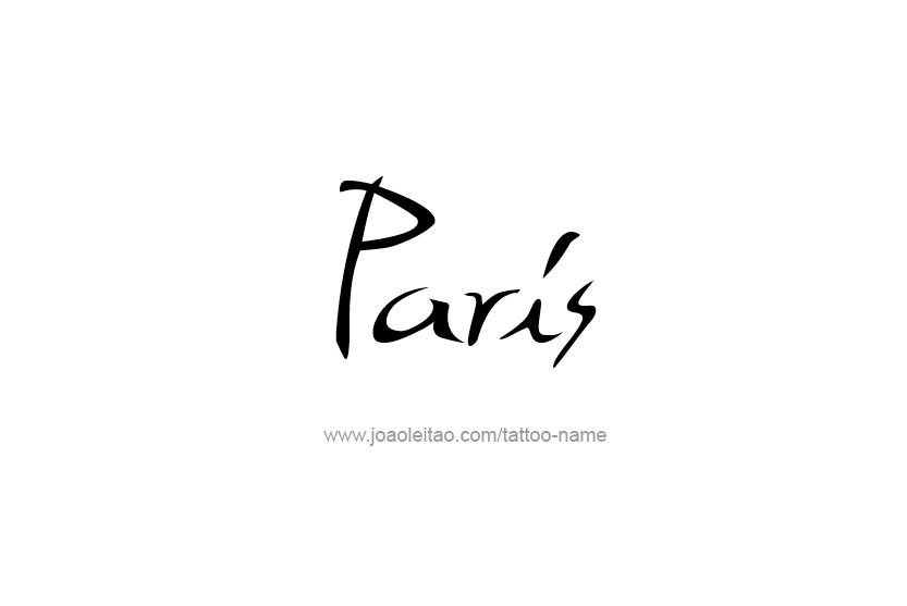 Tattoo Design Name Paris