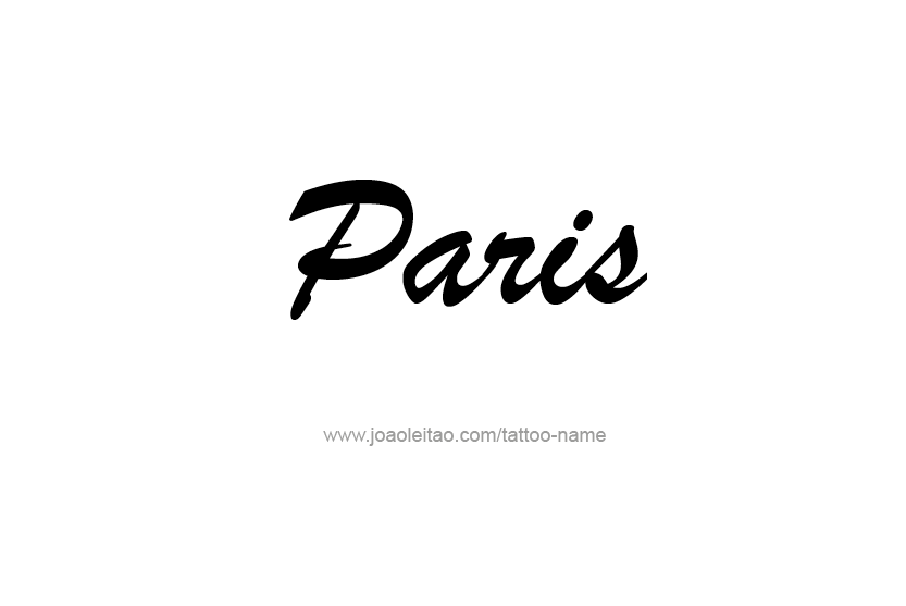 paris name tattoo designs