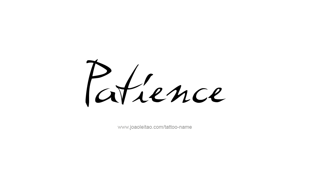 Tattoo Design Name Patience