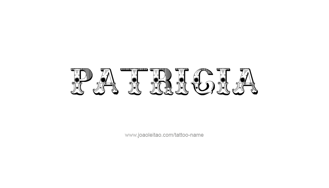 Tattoo Design Name Patricia