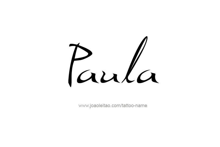 Tattoo Design Name Paula