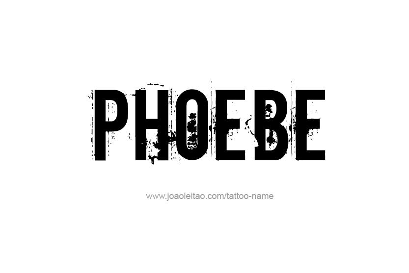 Tattoo Design Name Phoebe