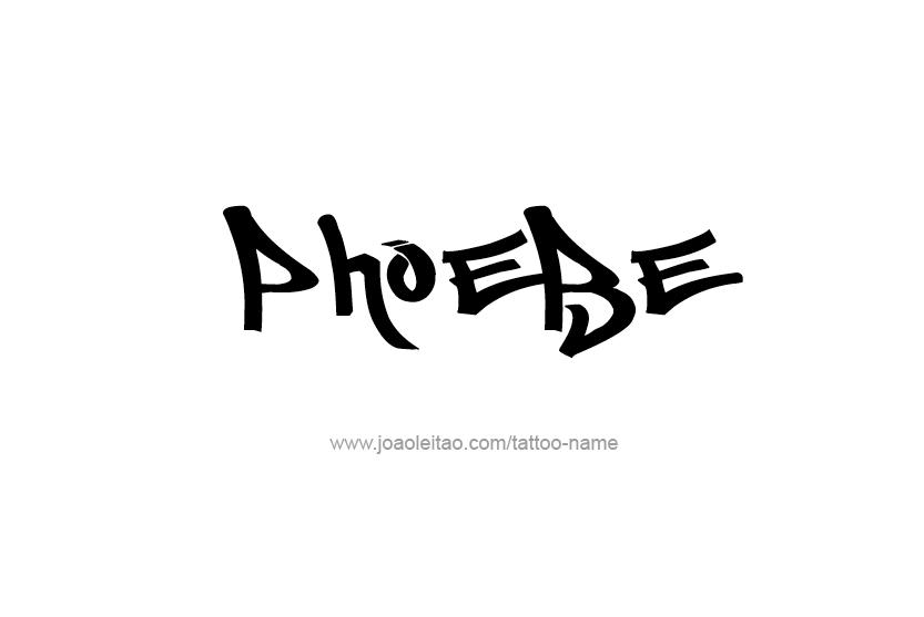 Phoebe Name Tattoo Designs