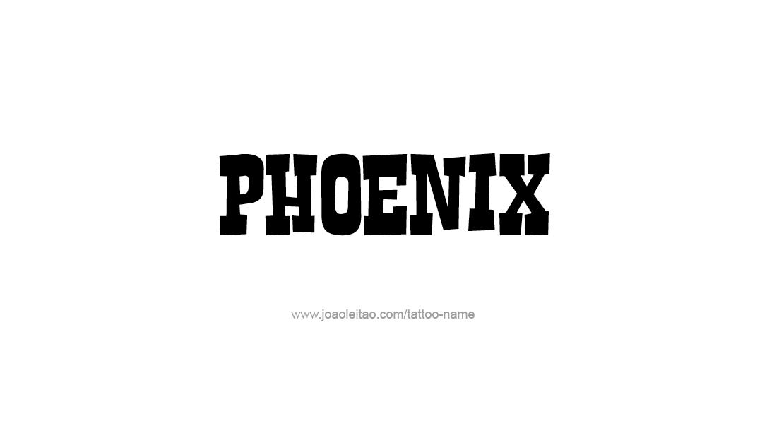Tattoo Design Name Phoenix