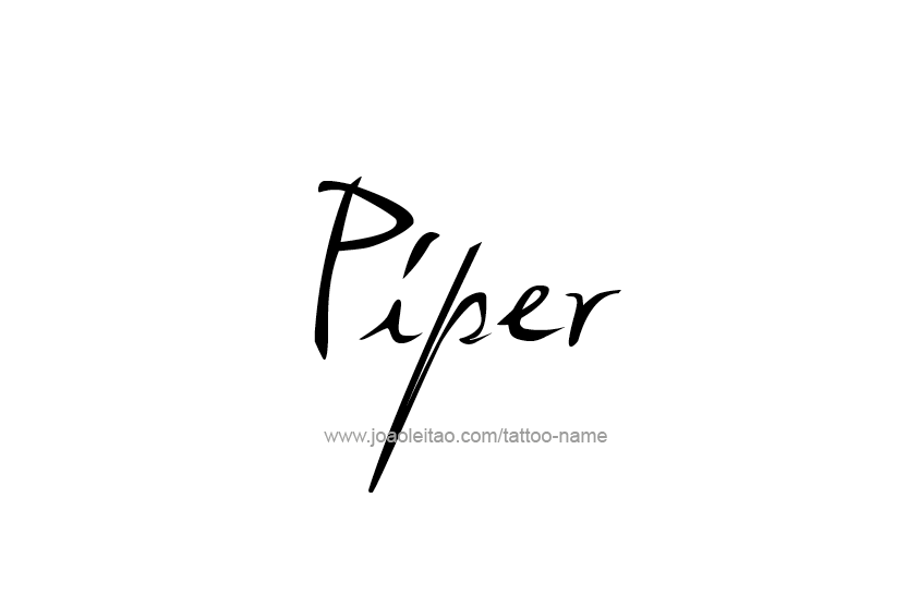 Tattoo Design Name Piper