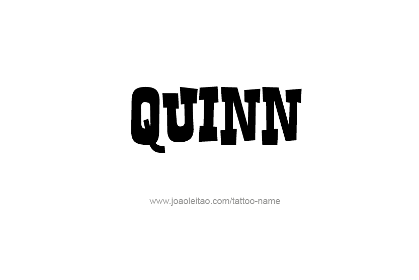 Tattoo Design Name Quinn